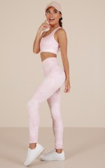 The Limits Tights in Blush Print