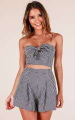 Show Business two piece set in black gingham
