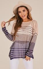 Sweet Sailing knit in navy stripe