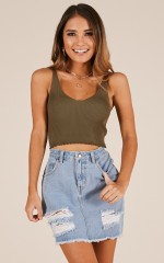 Act My Age knit top in khaki