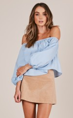 Brighter Day top in pale blue