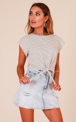 Save You top in white stripe