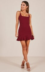Good Game dress in wine