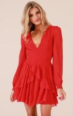 For A Rainy Day dress in red