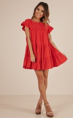 Timeless Beauty dress in red