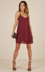 Go With It dress in wine