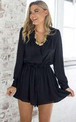 Lost Time playsuit in black