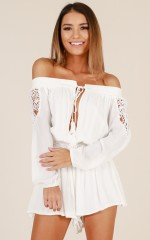 Lush Life playsuit in white