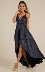 Rich Girl Maxi dress in  navy