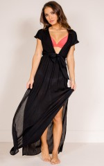To The Moon Beach Dress in Black