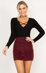 Up And Out Skirt in wine