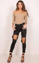 Amanda skinny jeans in black