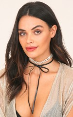 Rise Of Dawn choker in black and silver