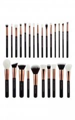 Makeup Brush Set in black and rose gold - 25 pc