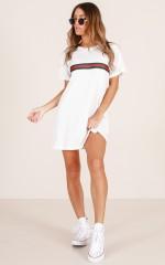 Stay Woke T-Shirt dress in white
