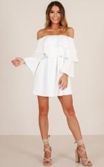 Glowing Love dress in white