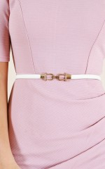 Style With belt in white