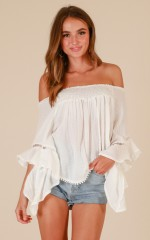 Day To Day top in white
