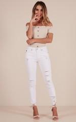 Charlene skinny jeans in white denim
