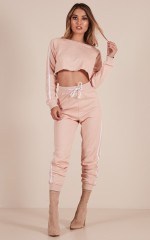 On The Level Track Pants in Blush