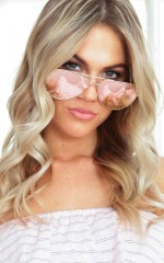 All For You sunglasses in rose gold