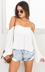 After Sundown top in white