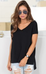 Back To Basics top in black