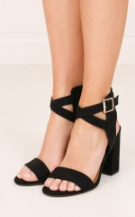 Therapy - Collins Heels in black micro