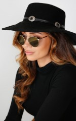 Ground Rules hat in black