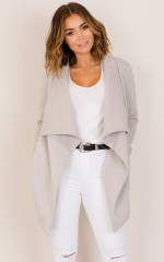 In An Instant trench coat in grey