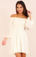Moon Dusk dress in white