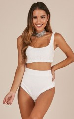 More Is More Two Piece Set in White