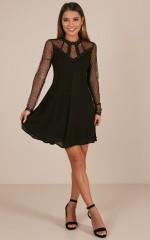 Push The Feeling dress in black
