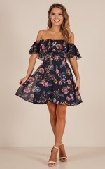 Rhapsody Dress in Navy Floral