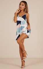 Crash My Party dress in white print