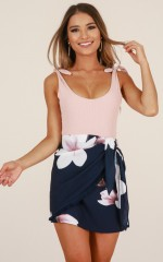 To Be Young skirt in navy floral