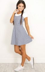 Lovers Bliss dress in navy print