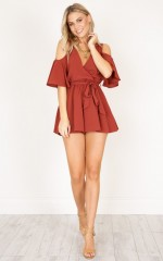 The Upside playsuit in rust
