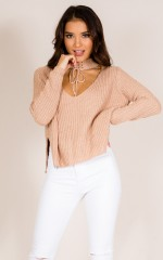 Until Tomorrow Knit in mocha