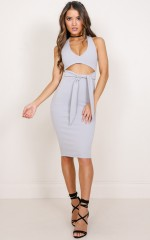 Whats My Name dress in grey