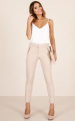 Win It All pants in beige