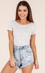 Younger Days shorts in light wash