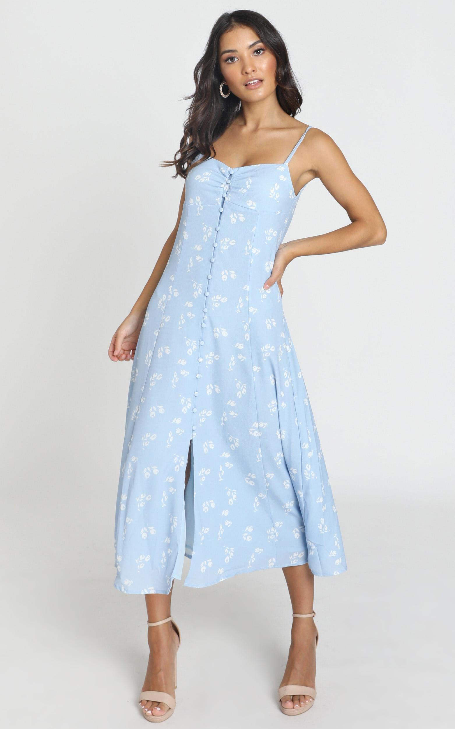 Say It Right Dress In Blue