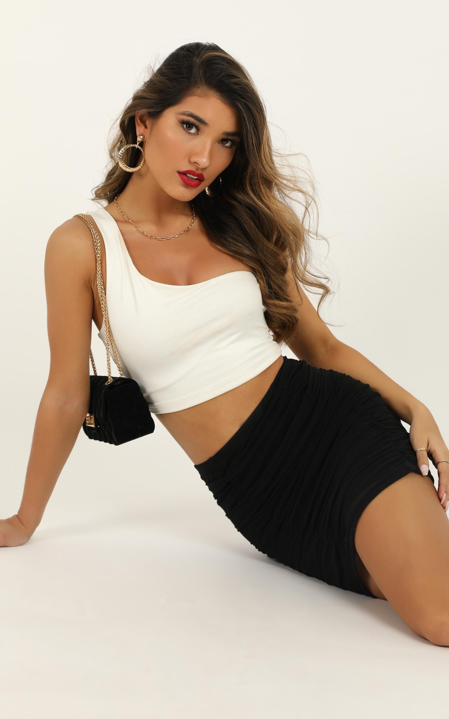 buying new great prices classic style Touch By Touch Skirt In Black Mesh | Showpo