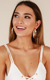 Cleopatra earrings in gold