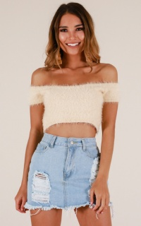 Be Jealous crop top in beige