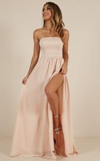 Love Bound Maxi Dress In Champagne