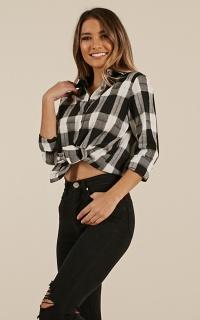 Pass Along Shirt In Black Check