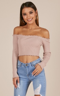 Good Vibrations top in nude