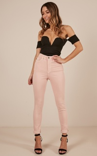 Sasha skinny jeans in blush